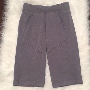 Lululemon grey terry cotton cropped pant